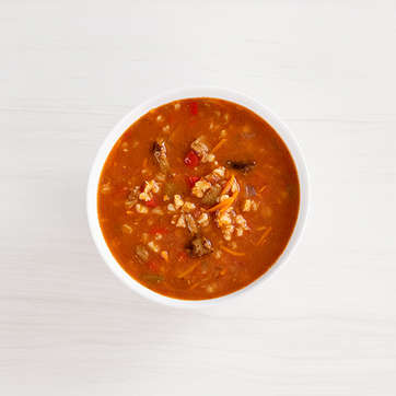 Spicy Beef Barley Soup
