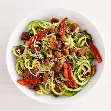 Paleo Zucchini Noodles with Beyond Sausage