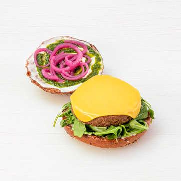 Grilled Quinoa + Veg Burger
