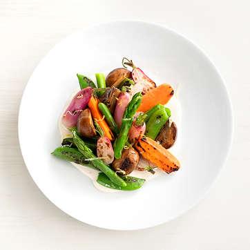 Roasted Vegetables with Lemon Aioli
