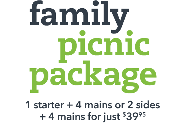 family picnic package slider