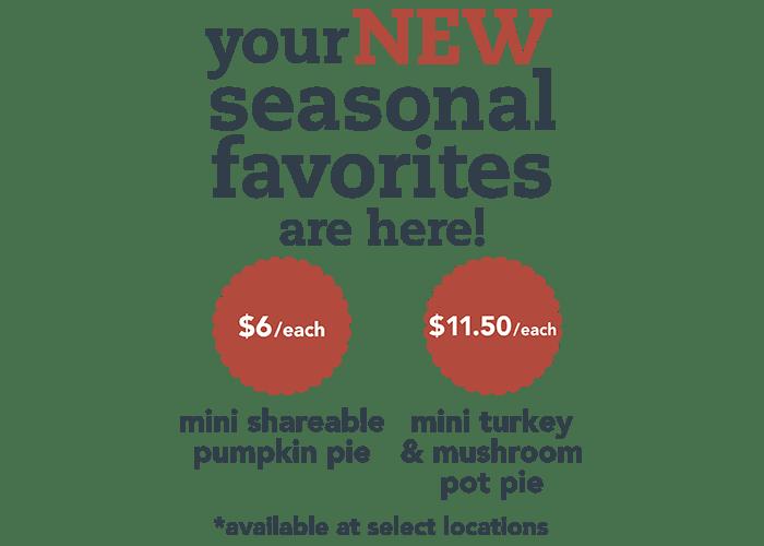image of pumpkin pie and turkey pot pie