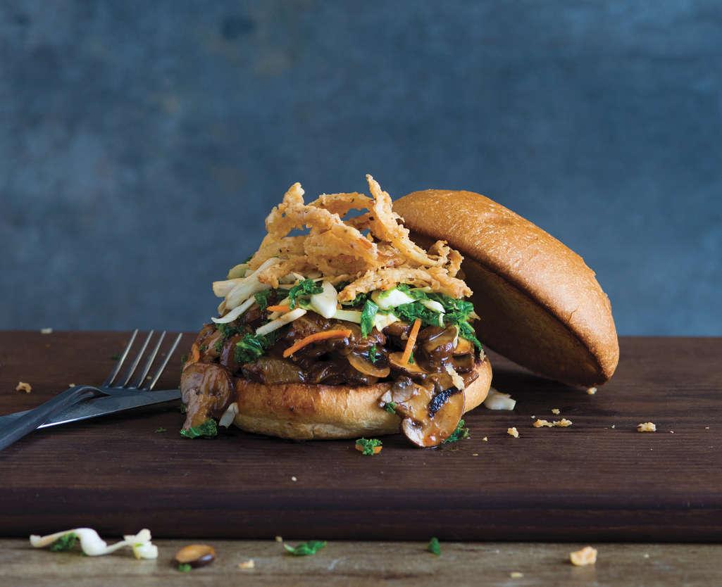 Fork & Knife BBQ Mushroom Sandwich