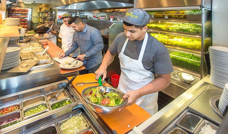 Veggie Grill chefs